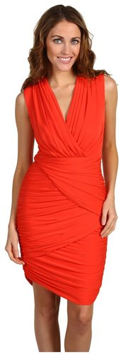 BCBGMAXAZRIA - Lou Open Back Cocktail Dress (Bright Poppy) - Apparel