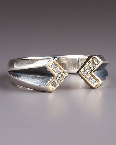 Elizabeth and James Double-Chevron Diamond Ring