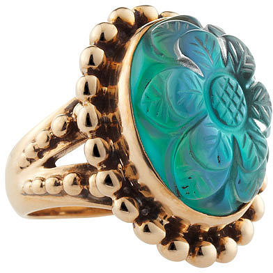 Stephen Dweck Mother-of-Pearl Rock Crystal Ring