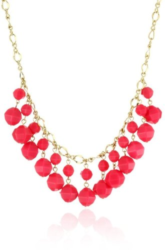 "Kate Spade New York ""Cut To The Chase"" Bright Pink Short Necklace"