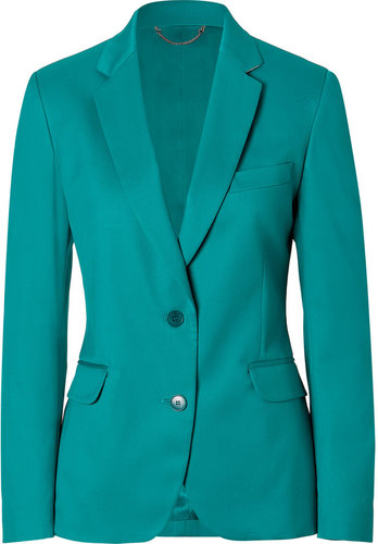 Paul Smith Aqua Two Button Cotton Blend Blazer