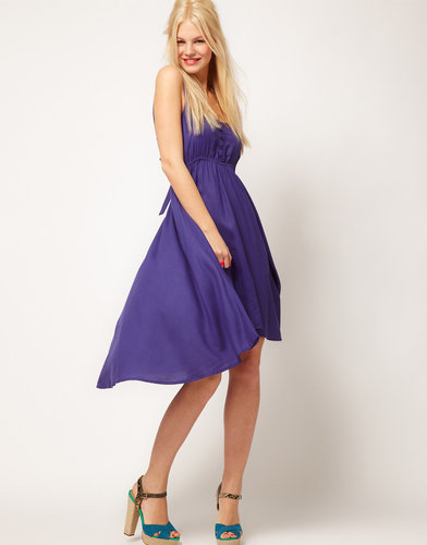 ASOS Midi Summer Dress With Bow Back