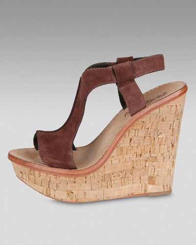 Elizabeth and James Suede Slingback Cork Wedge