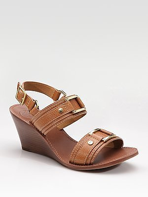 Pier Mini-Wedge Two-Strap Sandals