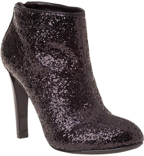TORY BURCH Corbet Ankle Boot Black Glitter