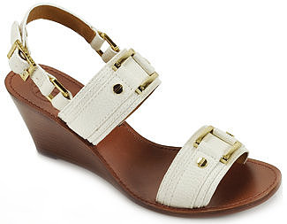 Tory Burch - Pier - Bleach Leather Wedge Sandal