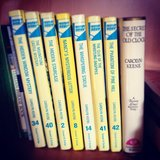 I shared a photo of my old Nancy Drew book collection.