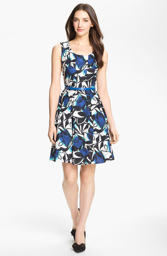 Donna Ricco Print Fit & Flare Dress