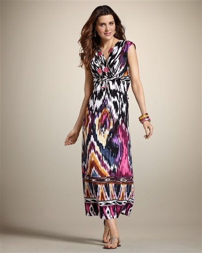 Geo Blur Madeline Maxi Dress