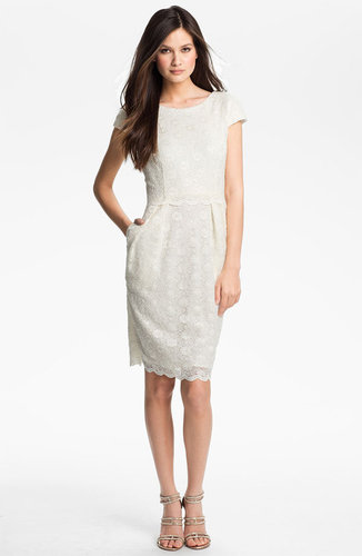Alex Evenings Sequin Lace Overlay Sheath Dress