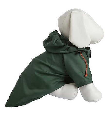 This Wagwear nylon raincoat ($42-$52, originally $44-$56) looks sturdy enough for the heaviest of April showers but will still look chic when paired with a blue-and-white-striped collar or booties.