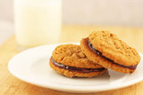 Peanut (or Almond) Butter and Jelly Sandwich Cookies
