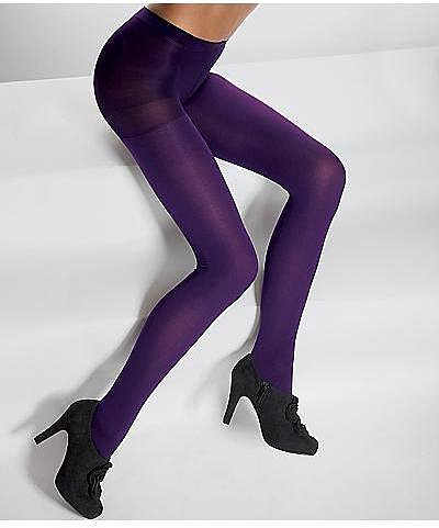 HUE Super Opaque Control Top Tights Panty Hose