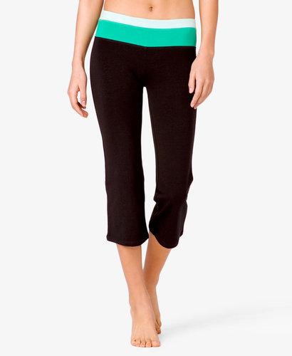 FOREVER 21 Colorblocked Workout Capris