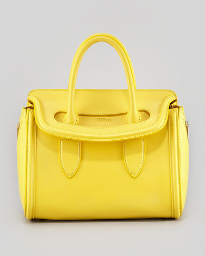 Alexander McQueen Small Heroine Handbag, Bright Yellow
