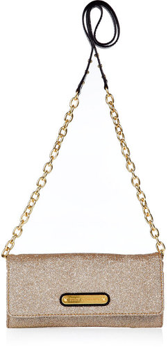 Juicy Couture Champagne glitter wallet with removable strap