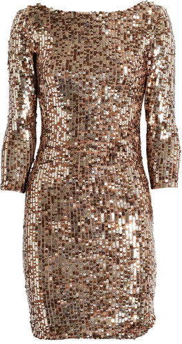 Alice + Olivia Sequined stretch-mesh dress