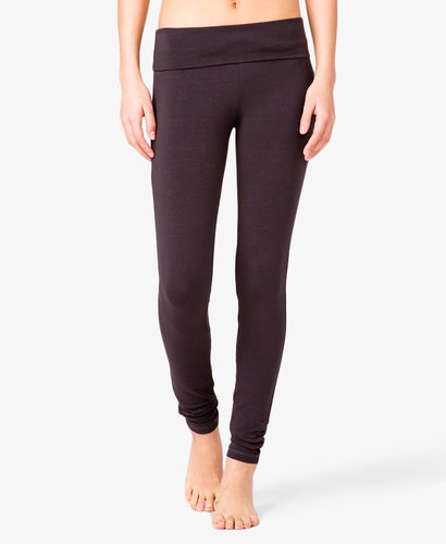 FOREVER 21 Ruched Skinny Workout Pants