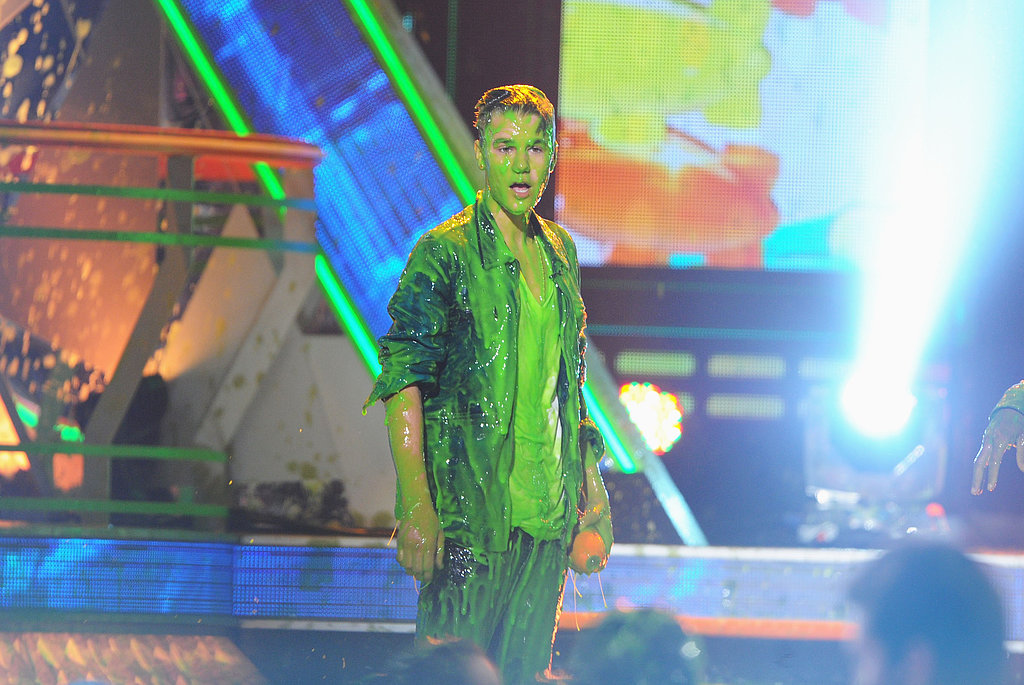 At the 2012 show, Justin Bieber got slimed on stage.