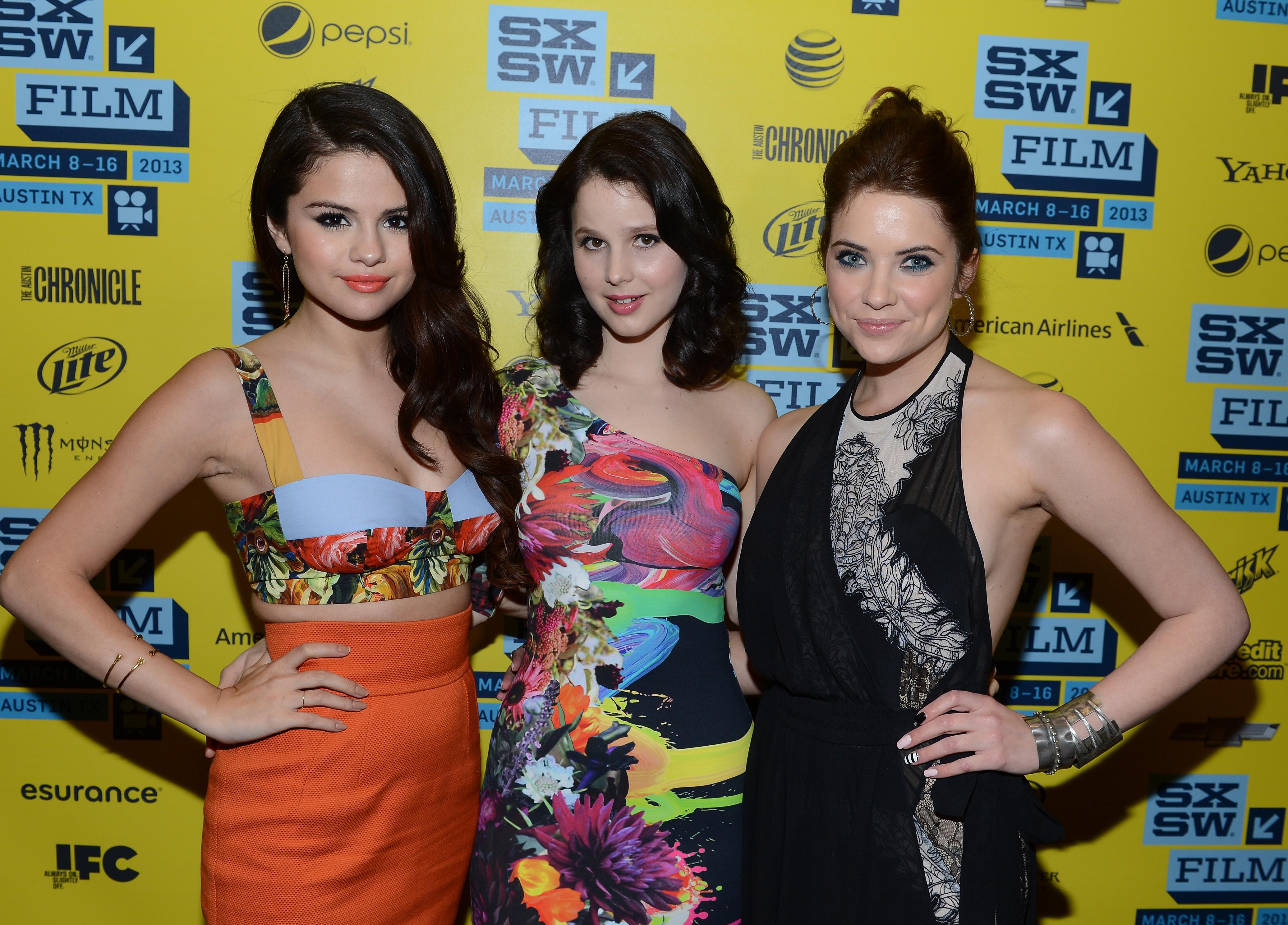 Selena Gomez, Rachel Korine, and Ashley Benson linked up at SXSW.