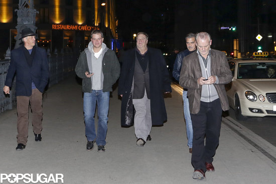 Matt Damon, George Clooney, John Goodman, and Bill Murray went out to eat in Berlin.