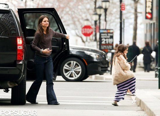 Katie Holmes ran errands with Suri Cruise.