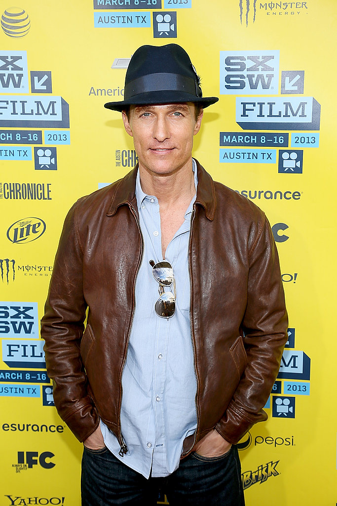 Matthew McConaughey posed at SXSW in Austin, TX.