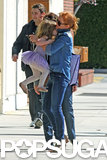 Isla Fisher picked up her youngest daughter, Elula Cohen.