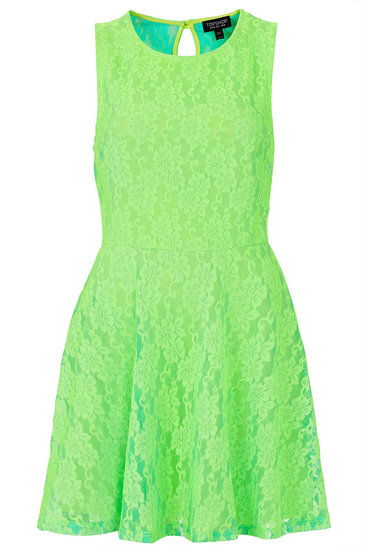 Hit the town in this flourescent Topshop flippy ($70) to make heads turn.