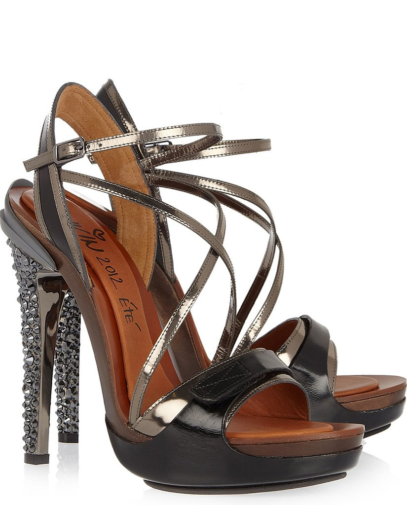Lanvin Opanca crystal-embellished leather sandals ($419, originally $2,790)