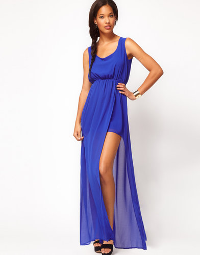 ASOS Maxi Dress With Thigh Split