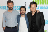 Jason Bateman, Charlie Day and Jason Sudeikis have officially signed on for Horrible Bosses 2, and it's likely Jamie Foxx will also reprise his role. Day and Sudeikis will star in On Night on the Hudson, also directed by Seth Gordon.
