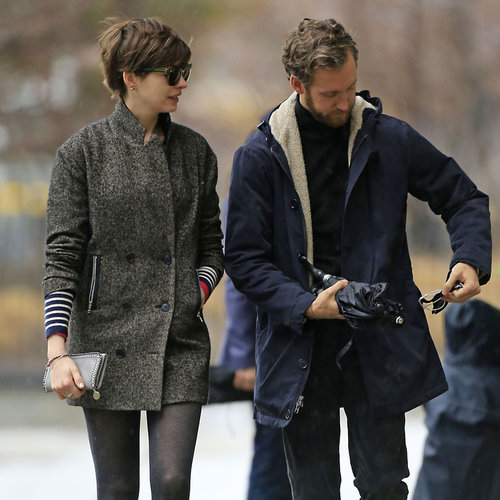 Anne Hathaway and Adam Shulman on a Coffee Date in NYC