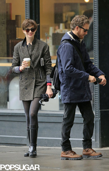 Anne Hathaway and husband Adam Shulman picked up coffee together in NYC.