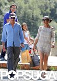 Catherine Zeta-Jones and Michael Douglas went shopping in Italy before hopping on a yacht in August 2011.