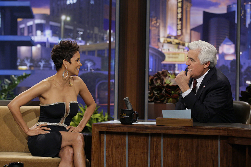 Halle Berry chatted with Jay Leno.