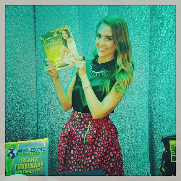 Jessica Alba posed with her newly released book, The Honest Life. Source: Instagram user jessicaalba