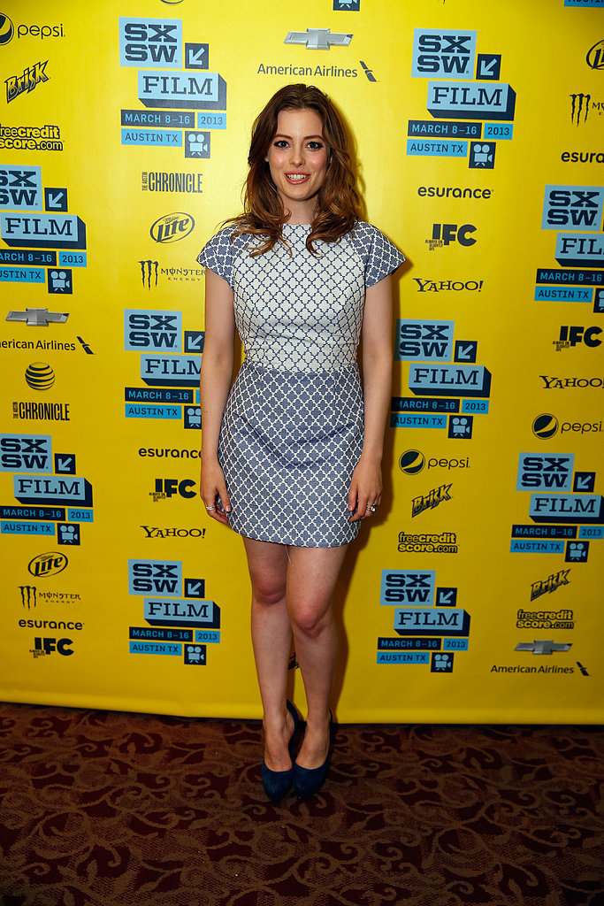 Community's Gillian Jacobs stepped out for the Milo photocall in a graphic-print mini.