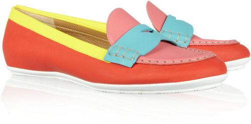 Marc Jacobs Color-block leather loafers