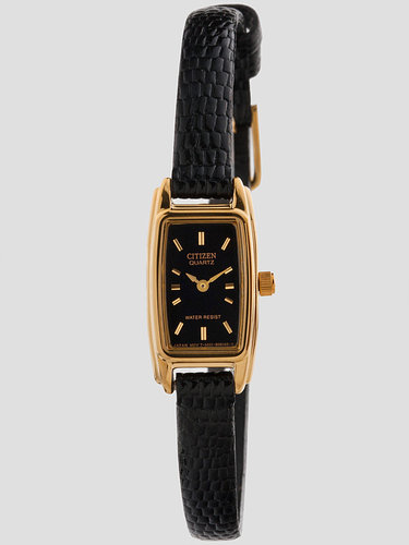 Vintage Citizen Black/Gold Ladies' Leather Band Watch