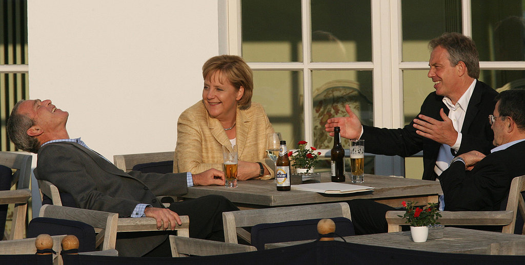 In 2007, President George W. Bush thoroughly enjoyed a nonalcoholic beer while he met with German Chancellor Angela Merkel and former British and Italian prime ministers Tony Blair and Romano Prodi in Germany.
