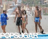 Eva Longoria and Tony Parker swam with dolphins during a June 2006 trip to Cabo.