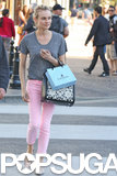 Diane Kruger carried a Lanvin bag while shopping in LA.