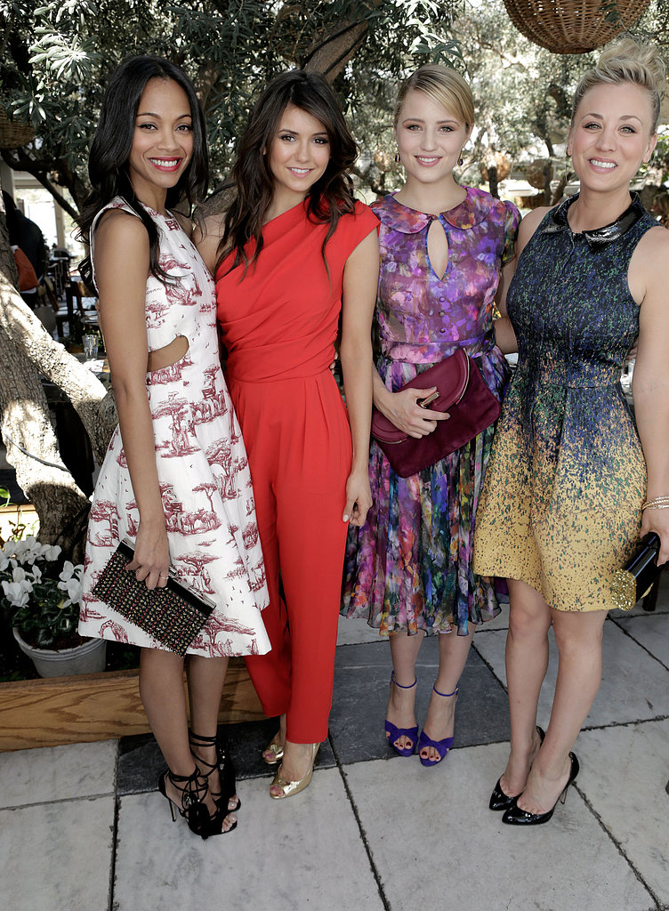 Zoe Saldana, Nina Dobrev, Dianna Agron, and Kaley Cuoco attended The Hollywood Reporter and Jimmy Choo's 25 Most Powerful Stylists Luncheon.