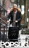 Sienna Miller smiled at baby Marlowe while they went out for a walk.