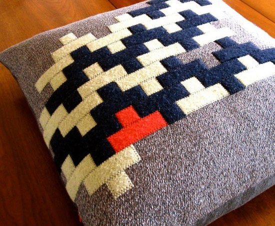 This recycled wool pillow ($160) is a chic way to bring your love for Tetris into a space.