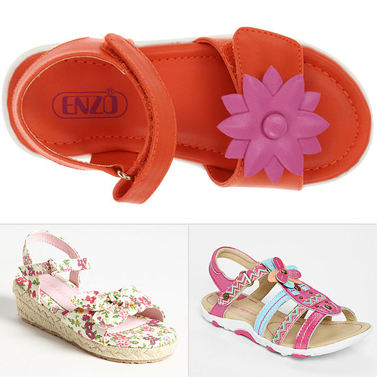 Steps to Spring! 12 Flowered Shoes For Little Girls