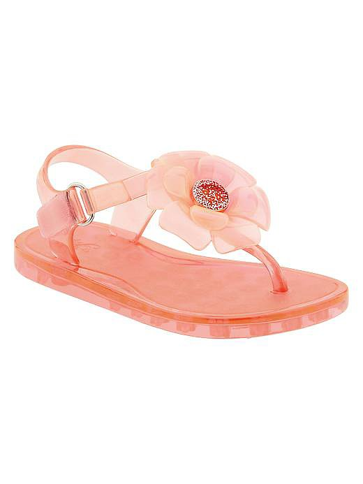 Gap Embellished Flower Jelly Sandals