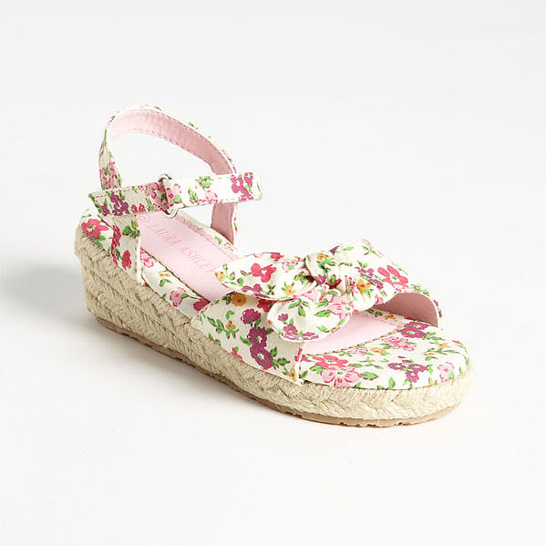 Laura Ashley Flower-Print Fabric Sandals
