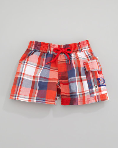 Tartine et Chocolat Tisurf Plaid Swim Shorts